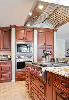 Brand:  Brookhaven    Style:  Pelham Manor Raised    Wood:  Cherry    Finish:  Fireside    Countertop:  Granite    Location:  Acton, MA