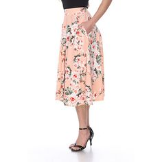 OpenSky Midi Flare Skirt, Fit And Flare Skirt, Black Midi Skirt, Flared Skirt, Skater Skirt Outfit, Skater Skirts, Skirt Outfits, Celebrity Fashion Looks, Celebrities Fashion