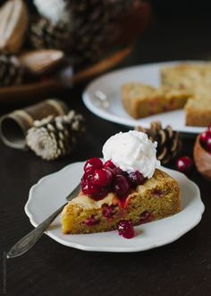 cranberry & orange olive oil cake