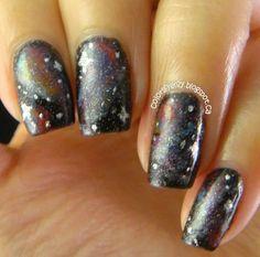 Galaxy Nails - nail art ideas