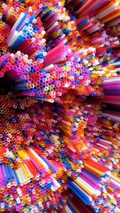 See more of Francesca Pasquali's installations made entirely from straws here. I love it! Very, very cool stuff.