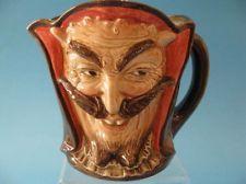Royal Doulton Mephistopheles Harry Fenton Devil & Saint Double Faced Jug