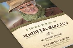 Check out Elegance Funeral Program Template by loswl on Creative Market