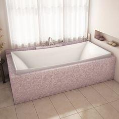 Alcove Lillium drop in bath Contemporary Bathtubs, Drop In Bathtub, Bath Tiles, Modern Bathroom, Bathing, Alcove, House, Design, Toronto