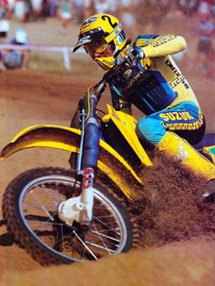 These are pictures from the career of five time World Motocross Champion Georges Jobe.