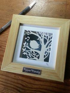 'Songbird' - Small Original Papercut by PaperPandaCuts on DeviantArt