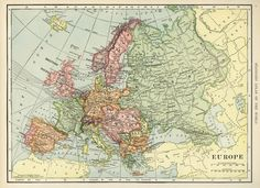 Here is a wonderful vintage C. S. Hammond map of Europe. I scanned it from a dictionary in my collection that was published in 1906. Click on image to enlarge.