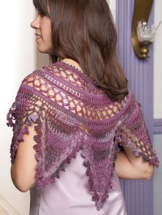 "Crochet wrap pattern from Annie's ""Beautiful Bullions"" pattern book. Go here to order: http://www.anniescatalog.com/detail.html?prod_id=92001"