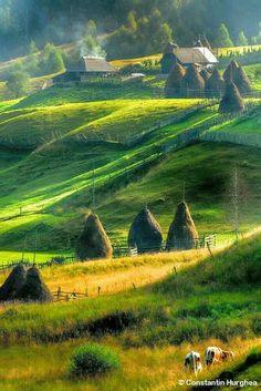 Landscape of Maramures, Romania by Constantin Hurghea Wonderful Places, Beautiful Places, Visit Romania, Romania Travel, Little Paris, Bucharest Romania, Voyage Europe, Roadtrip, Beautiful Landscapes