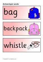 Ned. versie!!! School topic word cards (SB5732) - SparkleBox#Repin By:Pinterest++ for iPad#