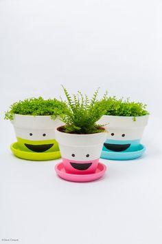 Sehe dir das Foto von Kunstfan mit dem Titel Lustige Blumentöpfe selber machen und andere inspirierende Bilder auf Spaaz.de an.