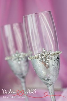 Copo de nieve gafas de invierno flautas de champán tostado de