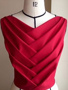 Red pleats
