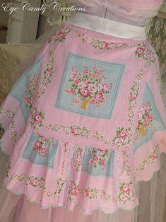 apron from hankies