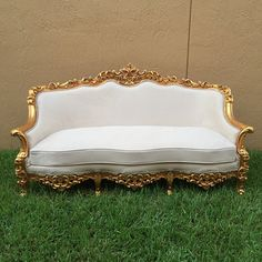 This is a beautiful baroque set refinished in gold leaf.