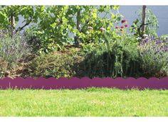 Bordure de jardin en acier fushia ondulée - Jardin et Saisons