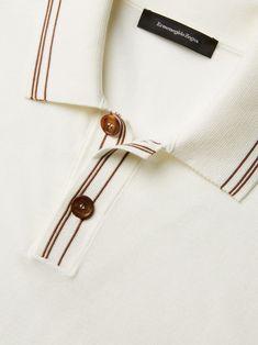 Polo Shirt Outfits, Mens Polo T Shirts, Club Shirts, Fashion Web Design, Polo Shirt Design, Casual Wear For Men, Collar Designs, Summer Knitting, Collar And Cuff