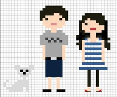 After seeing this cute idea from Martha Stewart living , I decided to set out and make my very own little cross stitch family to hang on ou...