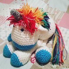 Wayne The Cherry Scented Unicorn.  #unicorns #unicorn #rainbow #rainbowhair #crochet #crochetaddict #crochetlife #cutesiecrafts #glitter #wool #imadethis #instacrochet #instacraft #blueeyes #toy #cute #picoftheday #amigurumis #amigurumi #ilovecrochet #cherry #sweet #sweetlife #sparkles by sammies_b