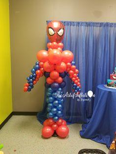 Superhero Balloons, Balloon Bouquet, Base, Balloon Decorations, Backdrops, Centerpieces, Children, Party, Superhero