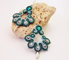 Soutache jewelry earrings.Handmade jewelry di beadsbyPanka su Etsy