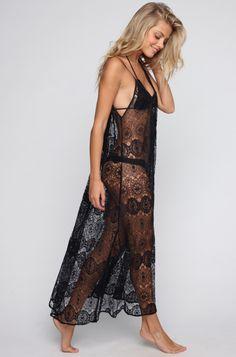 9 Seed Tulum Maxi Dress in Black Paris Lace~  #ishine365 #9seed #lace #black #coverup #dress #maxi
