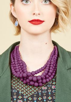 Burst Your Bauble Necklace in Grape, @ModCloth