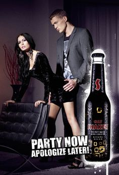 "Danish ad for Cult.  In addition to the disturbing message, the bottles also look to have just ""ejaculated"""