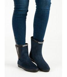 Semišové gumáky s ozdobním zipsom Rubber Rain Boots, Riding Boots, Wedges, Shoes, Fashion, Horse Riding Boots, Moda, Zapatos, Shoes Outlet