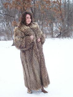 Racoon Fur Coat.
