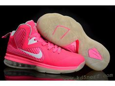 new arrival 65baf fb50c Buy Womens Lebrons Pink Lebron 9 Womens Think Pink Kay Yow White