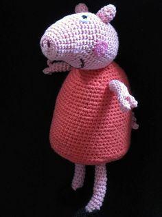 Peppa pig cotton amigurumi