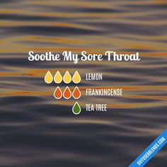 Soothe sore throat blend