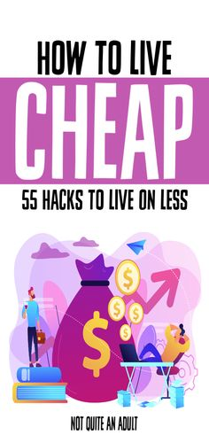 When you're struggling with money you may be looking for ways to live cheap but can't find great tips. Saving money is essential to frugality and having a positive budget learn how to live cheap with 55 hacks to live on less Ways To Save Money, Money Tips, Money Saving Tips, Money Budget, Managing Money, Money Plan, Living On A Budget, Frugal Living Tips, Budgeting Finances