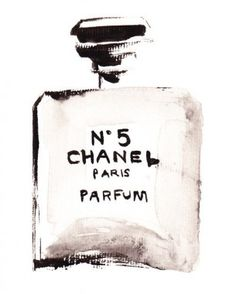 Chanel..would be fun art to hang in a bathroom or over a vanity.