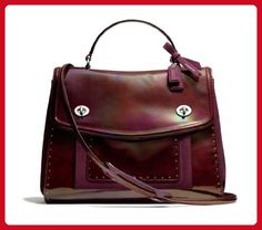 Coach Poppy Studded Leather Editorial Victoria Satchel 26430 - Top handle bags (*Amazon Partner-Link)