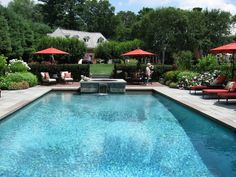Rectangular Pool Ideas incredibly clean lines on this rectangle featuring large sheer descent Elegant Rectangular Pool With Spa At Far End Photo By Barbara Wilson Rsdg