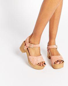 Image 1 ofASOS TICKLE Suede Clog Sandals