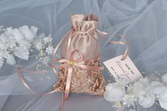 Iced Coffee and Pale Brown Wedding Favor Bag, Favor Bag with Tag, Quantity 20, Lace Wedding Favor Bags, Seafoam Wedding Favor Bags by DreamWeddingg on Etsy https://www.etsy.com/listing/268524078/iced-coffee-and-pale-brown-wedding-favor