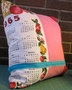 I have some old cloth calenders, this is a cute idea