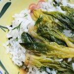 Ispanak Köklü Pirinç Pilavı