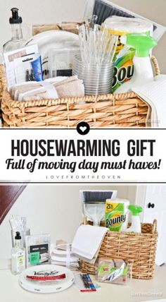 Know someone who is moving? A Move In Day basket is a housewarming gift they are sure to appreciate! Pack it full of simple and inexpensive items that everyone can use on moving day.