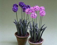 Lauch-Papier Blume-Kit für Puppenhaus 1: 12, Floristen und Miniatur-Gärten