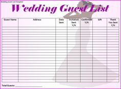 freebie wedding guest list tracker you may now kiss your bride