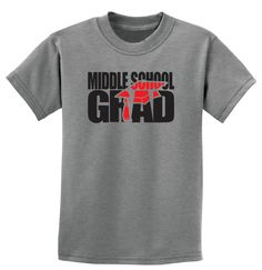 Graduation, Middle School Grad T-Shirt Ladies or Men's, All Adult Sizes XS to 6XL (Color Choice) by HayasDesigns on Etsy