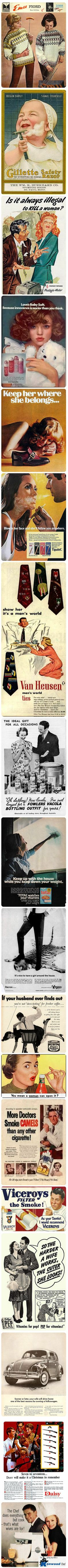 Oh boy!    Vintage Advertisements That Would Totally Be Banned Today