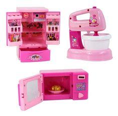 Set of 3 Lovely Mini Home Appliances Model Toys Play Toys (Kitchen Appliances) #HomeAppliancesKitchen