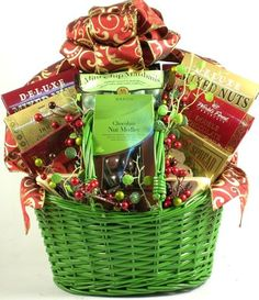 Christmas Elegance | Gourmet Holiday Gift Basket of Premium Snacks - http://www.specialdaysgift.com/christmas-elegance-gourmet-holiday-gift-basket-of-premium-snacks-2/