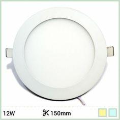 Downlight LED extraplano circular 12W Ø150/170mm carcasa blanca ángulo 160º. Por su altura mínima es el producto ideal para colocar en falsos techos o en muebles con poco espacio para empotrar >39mm. https://www.barcelonaled.com/downlights-planos-para-empotrar/521-downlight-led-plano-12w.html