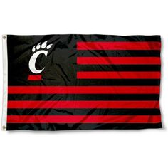 Cincinnati Bearcats Stars and Stripes Flag measures is constructed of polyester, has a canvas side header with two metal grommets, and the officially. Cincinnati Bearcats, University Of Cincinnati, Print Logo, Team Logo, Screen Printing, Ohio, Banner, Stripes